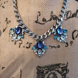2 for $20Stunning blue crystal statement necklace